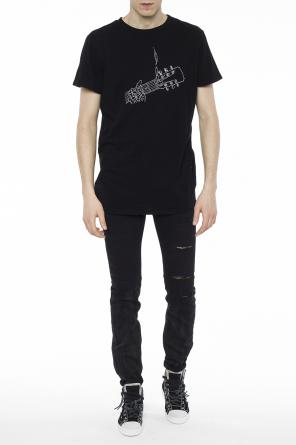 Embroidered t-shirt od Amiri