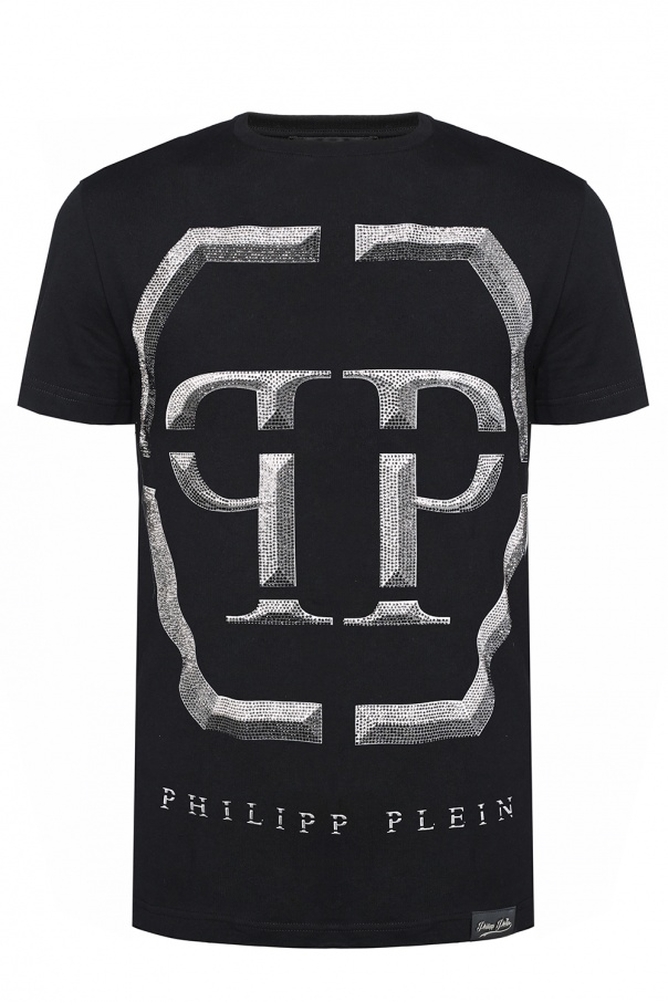 t shirt z nadrukiem z logo philipp plein sklep internetowy vitkac. Black Bedroom Furniture Sets. Home Design Ideas