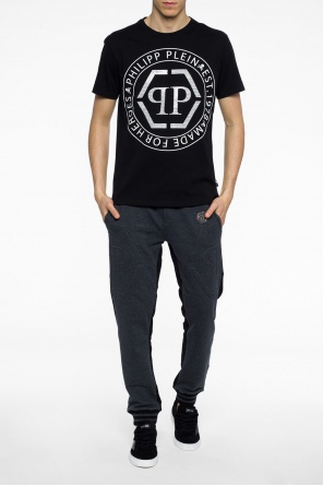 Sequinned t-shirt with logo od Philipp Plein