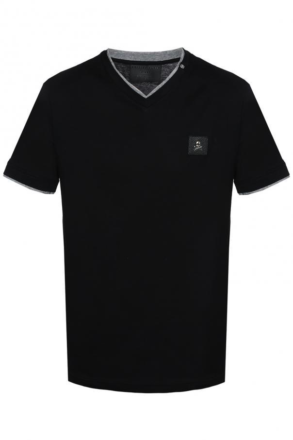 Philipp Plein Skull-patched T-shirt