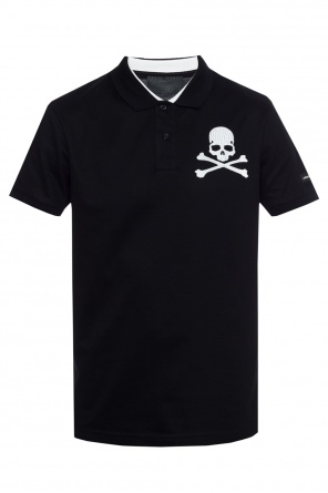 Skull-embroidered polo od Philipp Plein