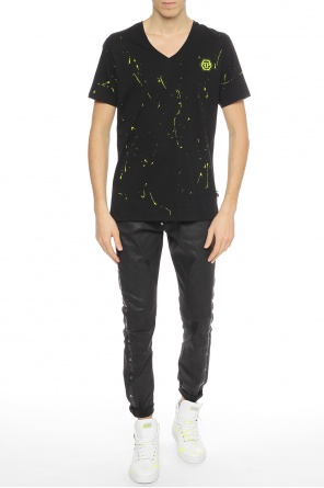 Paint-splatter t-shirt od Philipp Plein