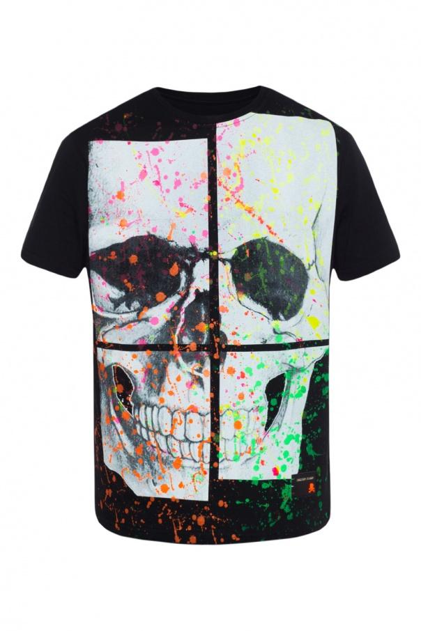 4006c636866bfb Paint-splattered T-shirt Philipp Plein - Vitkac shop online