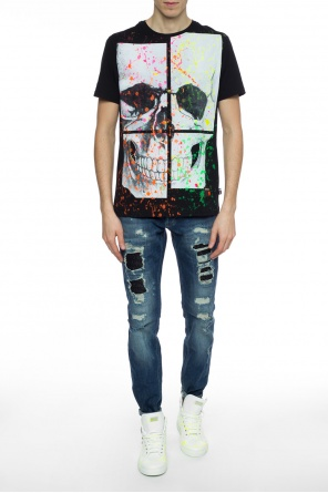 Paint-splattered t-shirt od Philipp Plein