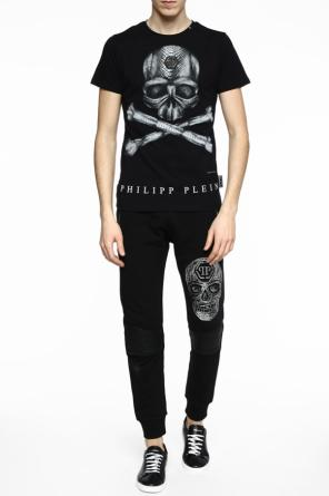 T-shirt with lettering at back od Philipp Plein