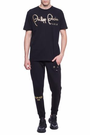 'sign' logo-embroidered t-shirt od Philipp Plein