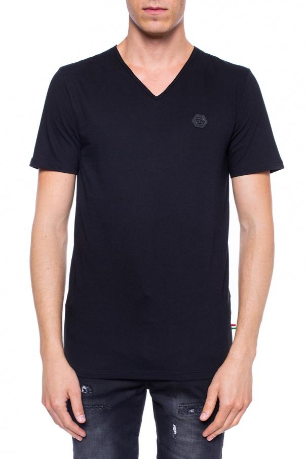 V neck t shirt philipp plein vitkac shop online for V neck t shirt online shopping