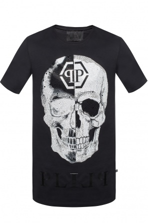 'talk' t-shirt with logo od Philipp Plein