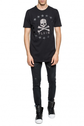 T-shirt with application od Philipp Plein