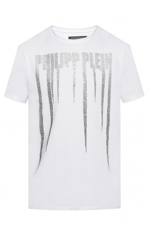 T-shirt with a logo studded with stones od Philipp Plein