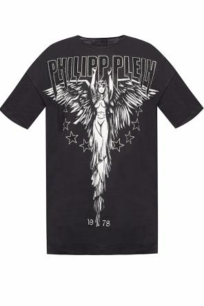 T-shirt with a logo and a decorative pattern od Philipp Plein