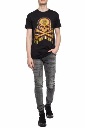 T-shirt with sequinned skull od Philipp Plein
