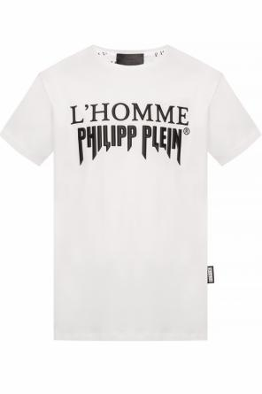 T-shirt with rubberised branding od Philipp Plein