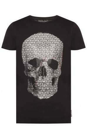 Appliquéd t-shirt od Philipp Plein