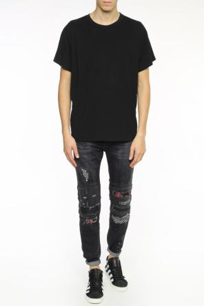 T-shirt with decorative holes od Amiri