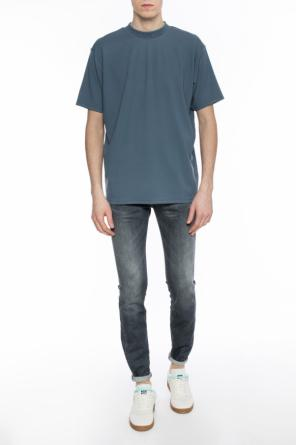 Embroidered logo t-shirt od Acne