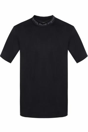 Logo-embroidered t-shirt od Acne