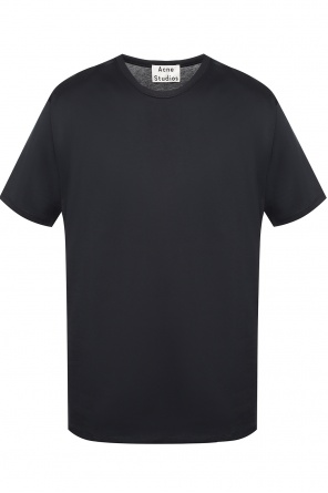 T-shirt with a crew neckline od Acne