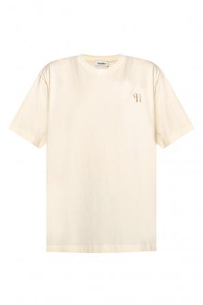 T-shirt z logo 'rece' od Nanushka