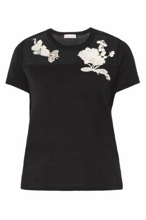 Appliqued t-shirt od Valentino Red