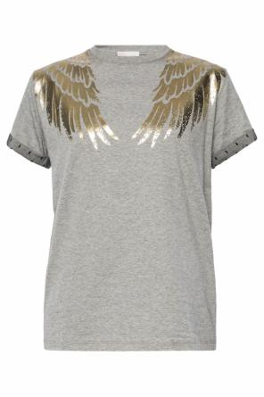 Wings motif t-shirt od Valentino Red