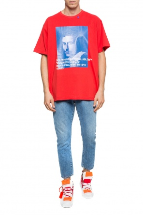 Oversize t-shirt with a print od Off White