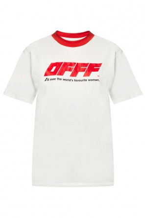 T-shirt with printed lettering od Off White