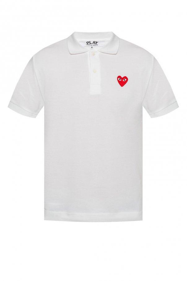 Comme des Garcons Play Heart motif polo shirt