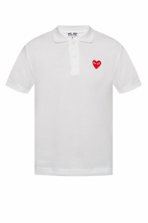 Heart motif polo shirt od Comme des Garcons Play