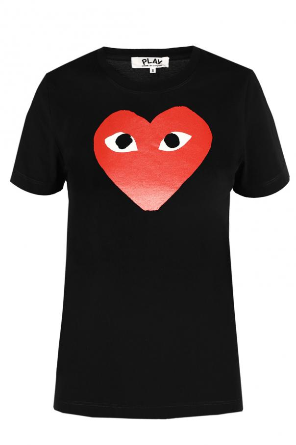 Comme des Garcons Play Heart motif T-shirt