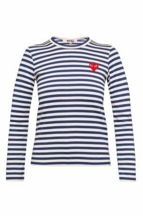 T-shirt w paski z naszywką od Comme des Garcons Play