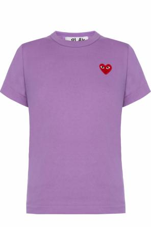 T-shirt with a heart motif od Comme des Garcons Play