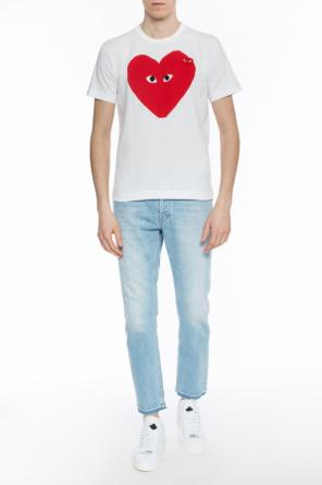 Printed heart motif t-shirt od Comme des Garcons Play