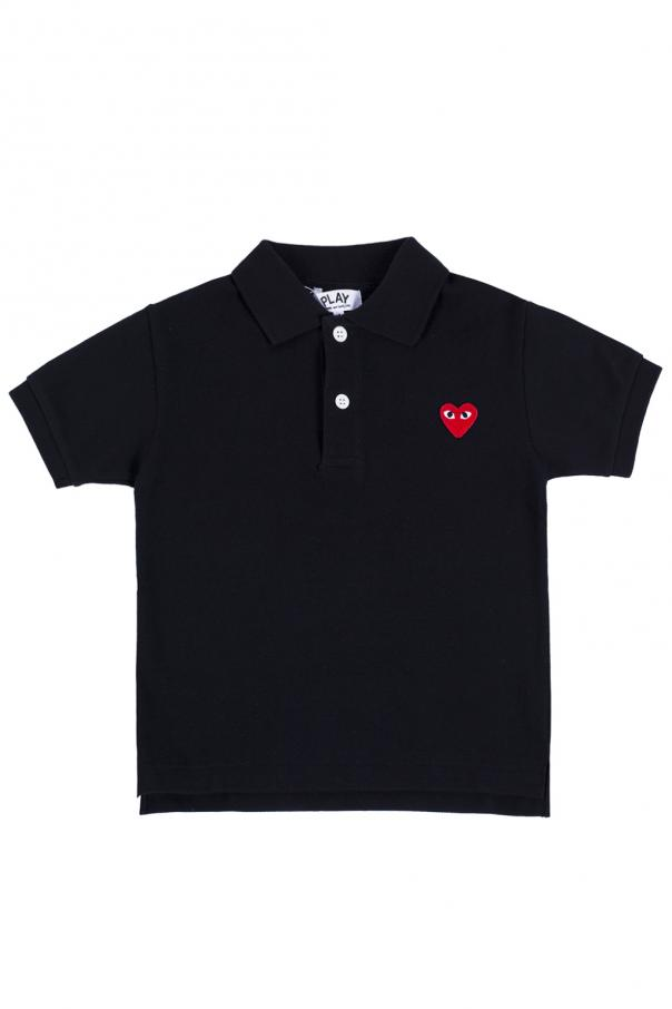 Comme des Garcons Play Kids Heart-patched polo