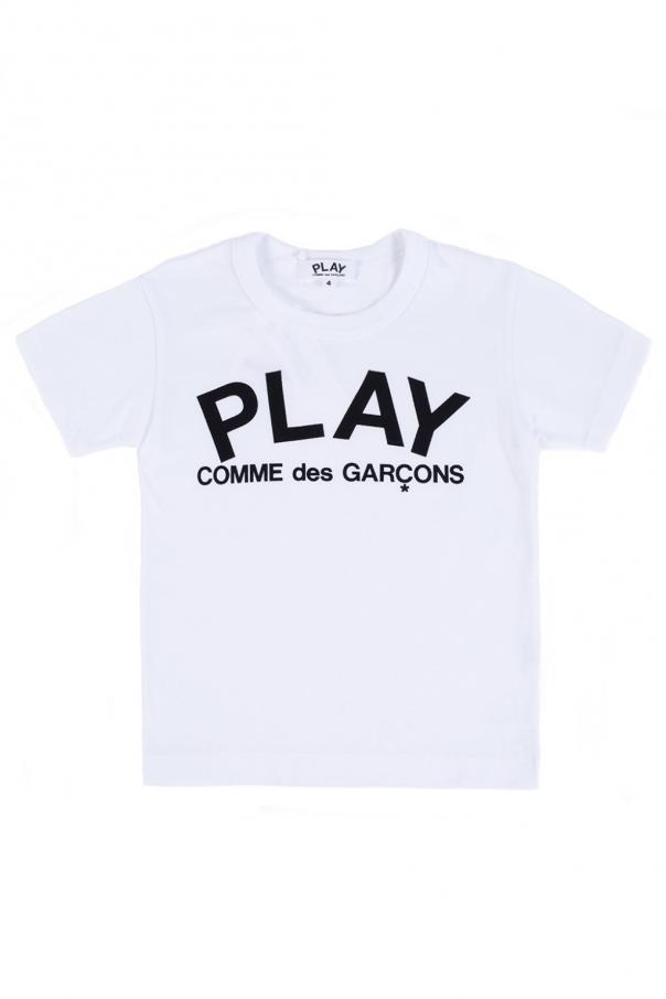 Comme des Garcons Play Kids Logo-printed T-shirt