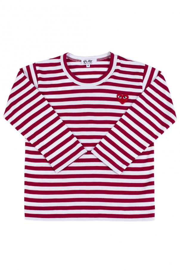 Comme des Garcons Play Kids Long sleeve striped T-shirt