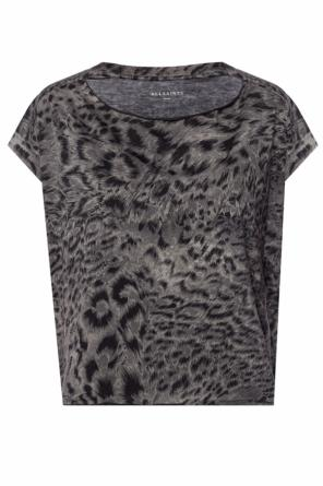 'paw' leopard-printed t-shirt od AllSaints