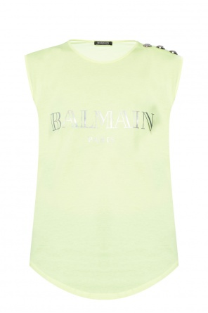 Top with a printed logo od Balmain