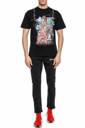 T-shirt with a logo print od Palm Angels