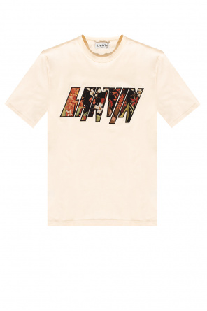 T-shirt with logo patch od Lanvin
