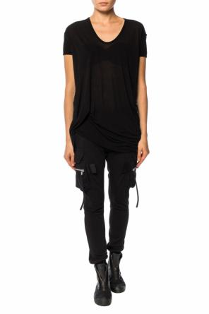 T-shirt with ruffles od Rick Owens