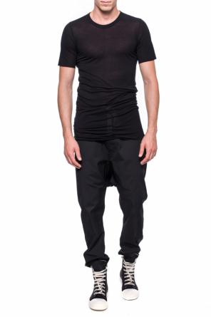 T-shirt with a raw finish od Rick Owens