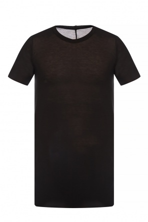 T-shirt with decorative topstitching od Rick Owens