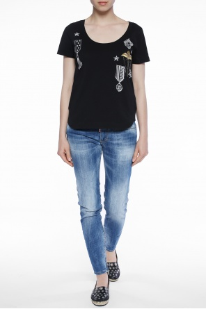 Printed t-shirt with applique od Just Cavalli