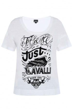 T-shirt with velour pattern od Just Cavalli