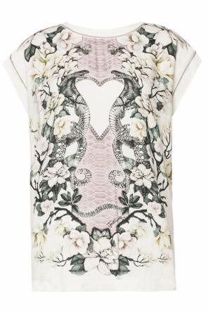 Patterned t-shirt with chain od Just Cavalli
