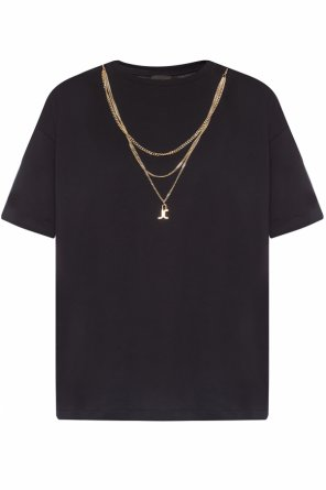 T-shirt with a logo chain od Just Cavalli