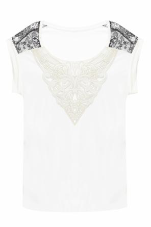 T-shirt with openwork applique od Just Cavalli