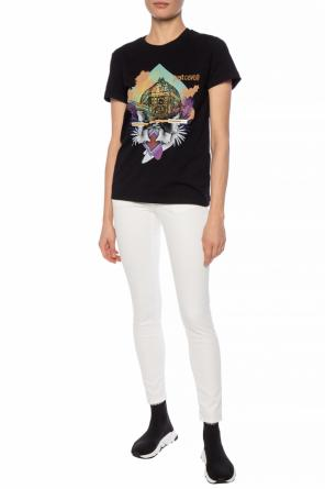 Embellished t-shirt with print od Just Cavalli