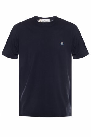 T-shirt z wyszytym logo od Vivienne Westwood